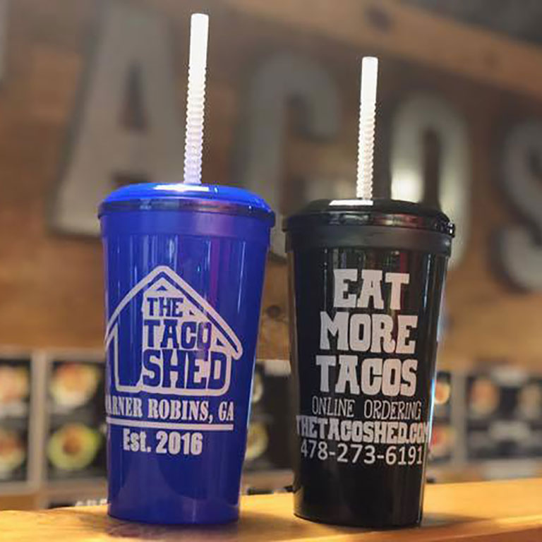 Taco Shed Cups