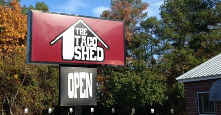 The Taco Shed Signage