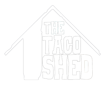 The Taco Shed Logo in White