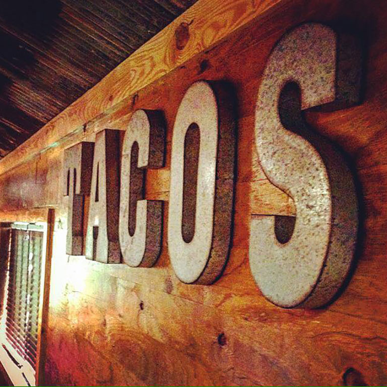 Interior of The Taco Shed